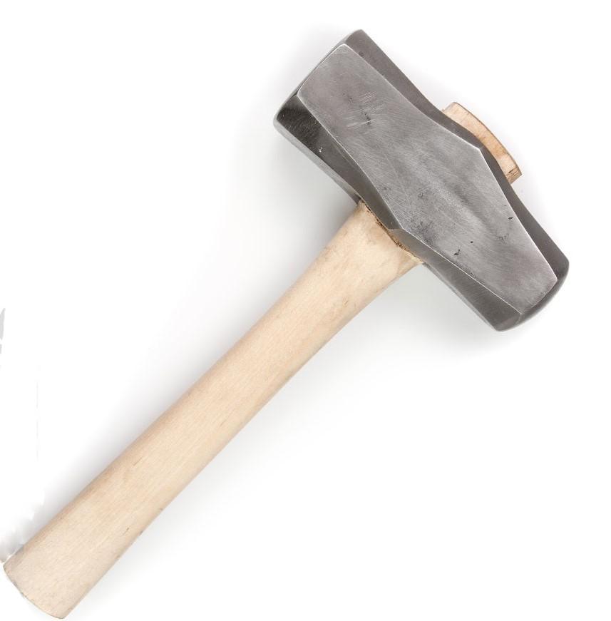 Молоток кузнечный кованый профессиональный, вес 2,3-2,5 кг